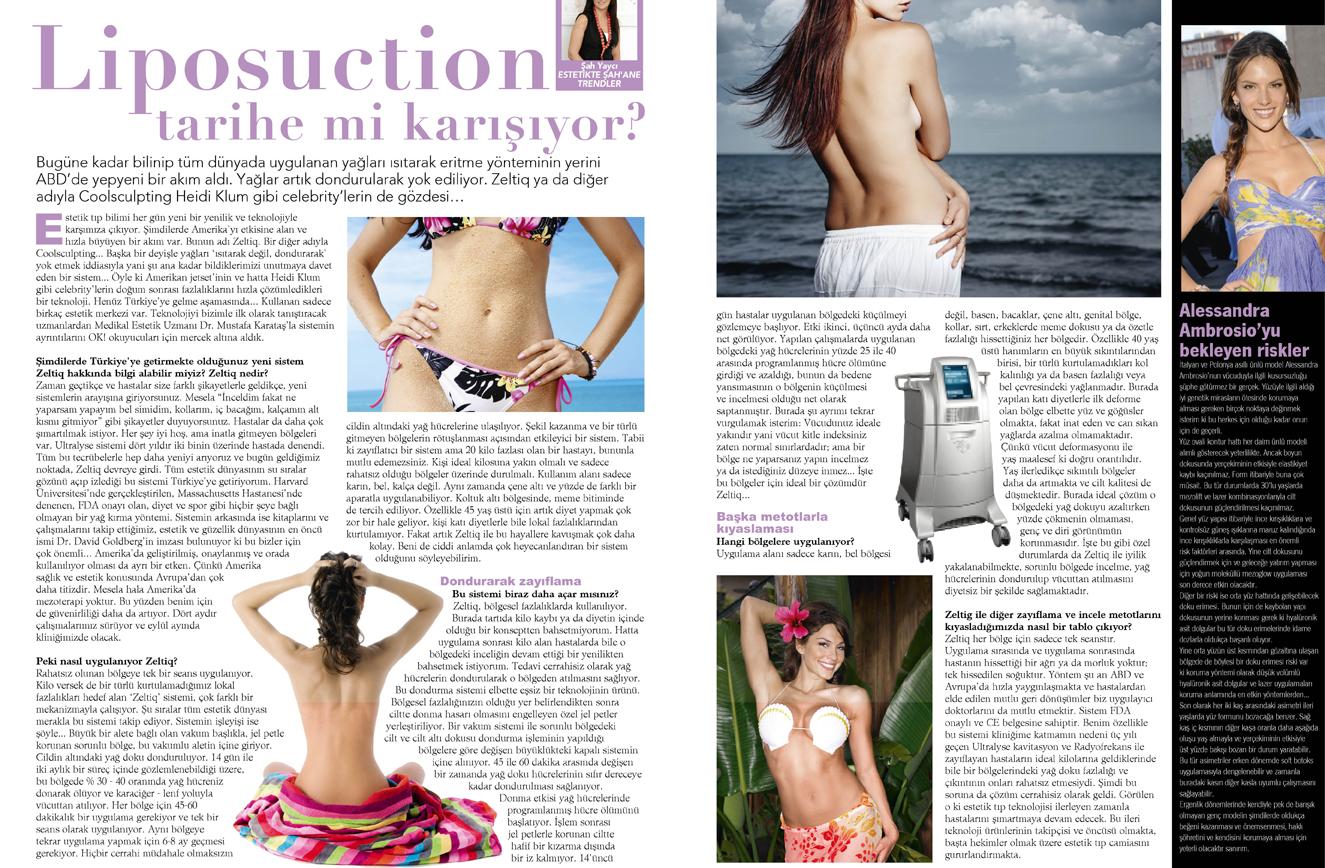 Liposuction Tarihe Mi Karışıyor?